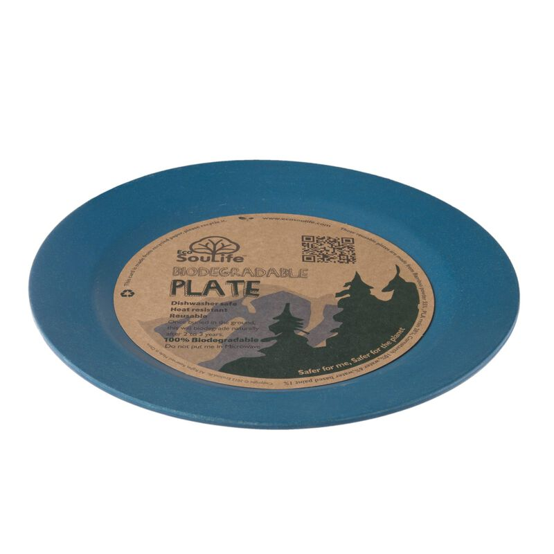 EcoSoulife Large Dinner Plate -  navy