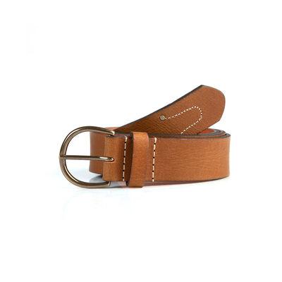 Old Khaki Women's Bria Stitch Detail Leather Belt