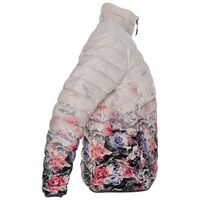 K-Way Women's Fern Printed Ombre Down Jacket -  white-rose