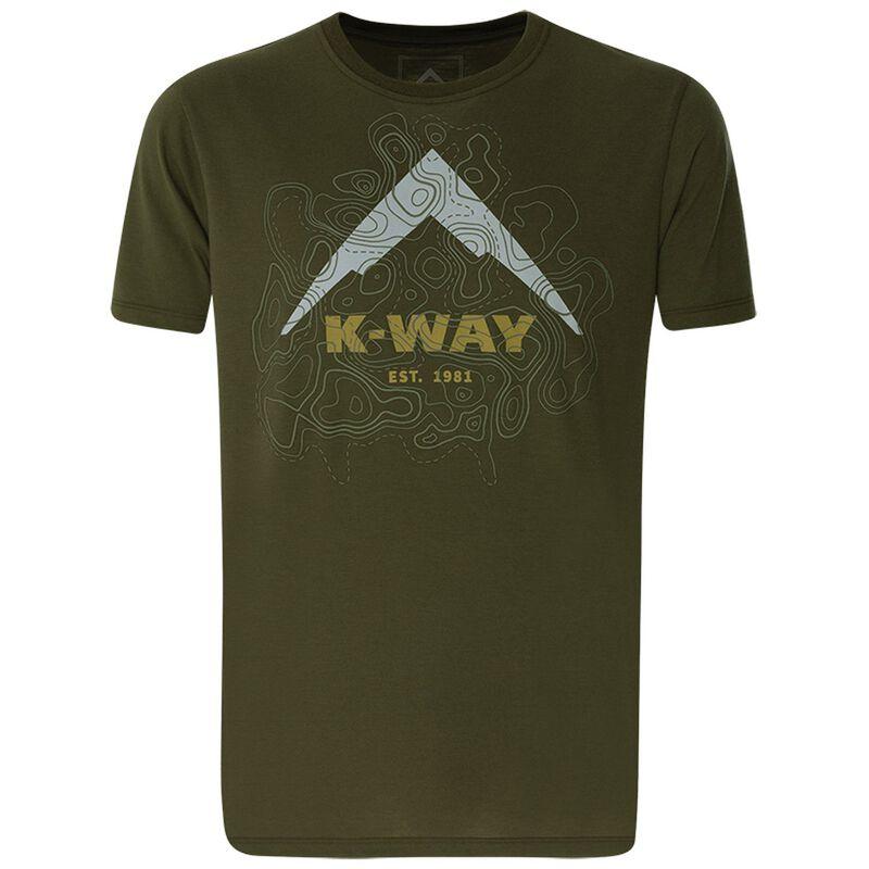 K-Way Men's Contours T-Shirt S20 -  olive