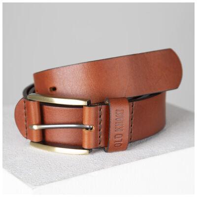 Ceasar Embossed Loop Leather Belt