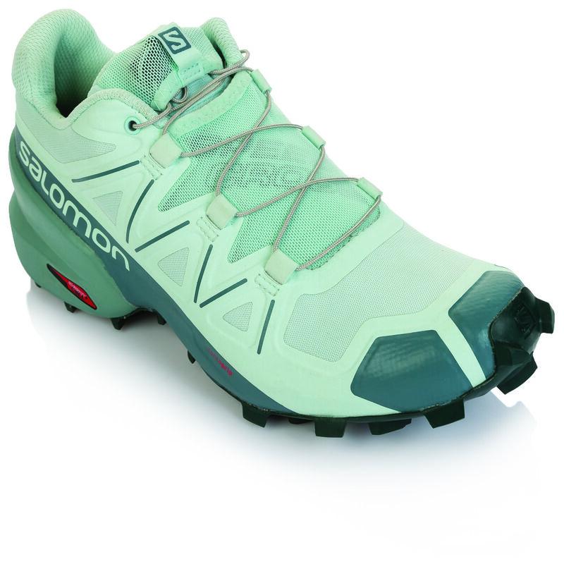 Salomon Women's Speedcross 5 Shoe -  teal-aqua