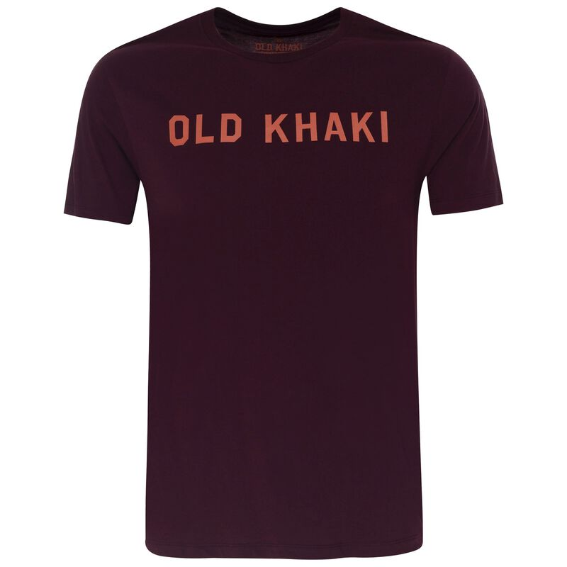 Old Khaki Men's Harris T-Shirt -  burgundy
