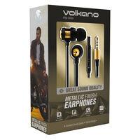 Volkano Alloy Aux Earphones -  gold