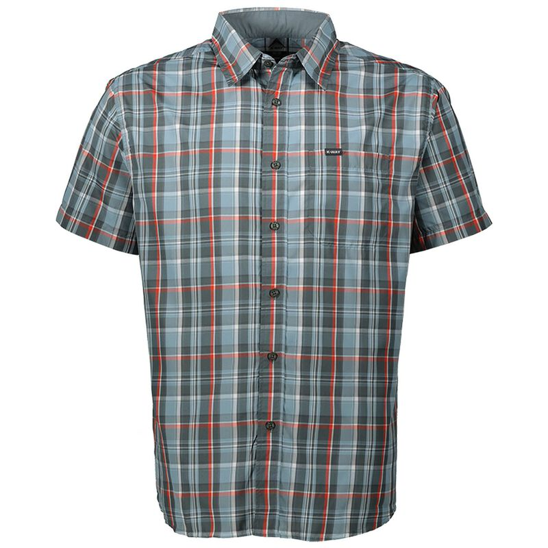K-Way Men's Explorer Berluda Check Shirt -  duck-egg-pumpkin