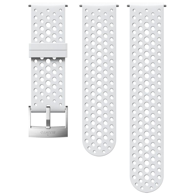 Suunto 24 mm Athletic 1 Silicon Strap -  white