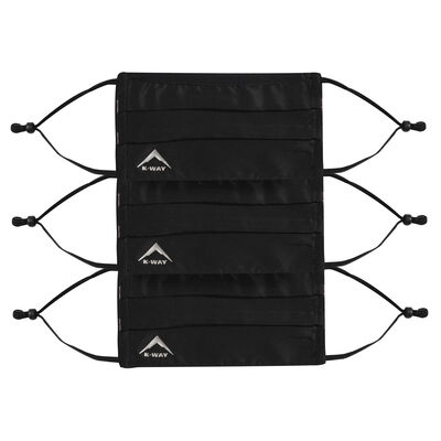 K-Way MB1 Fabric Face Mask 3-Pack with Filter