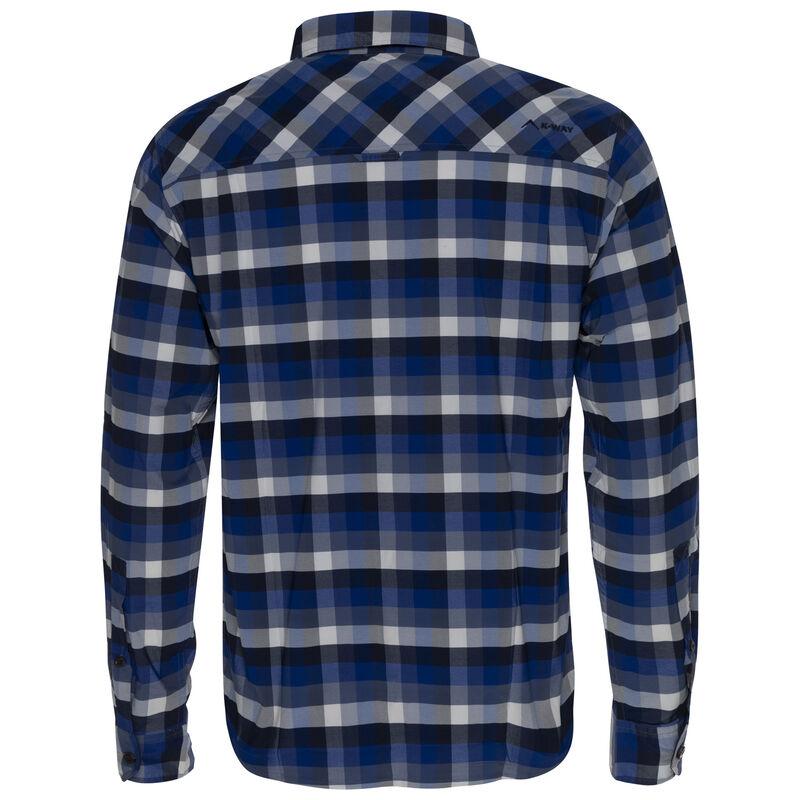K-Way Men's Explorer Beaufort Long Sleeve Check Shirt -  blue-navy