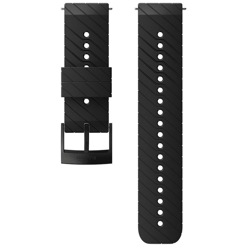 Suunto 24mm Athletic 3 Silicon Strap -  black