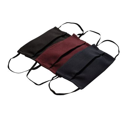Fabric 2-Layer Face Mask 3-Pack with Filter