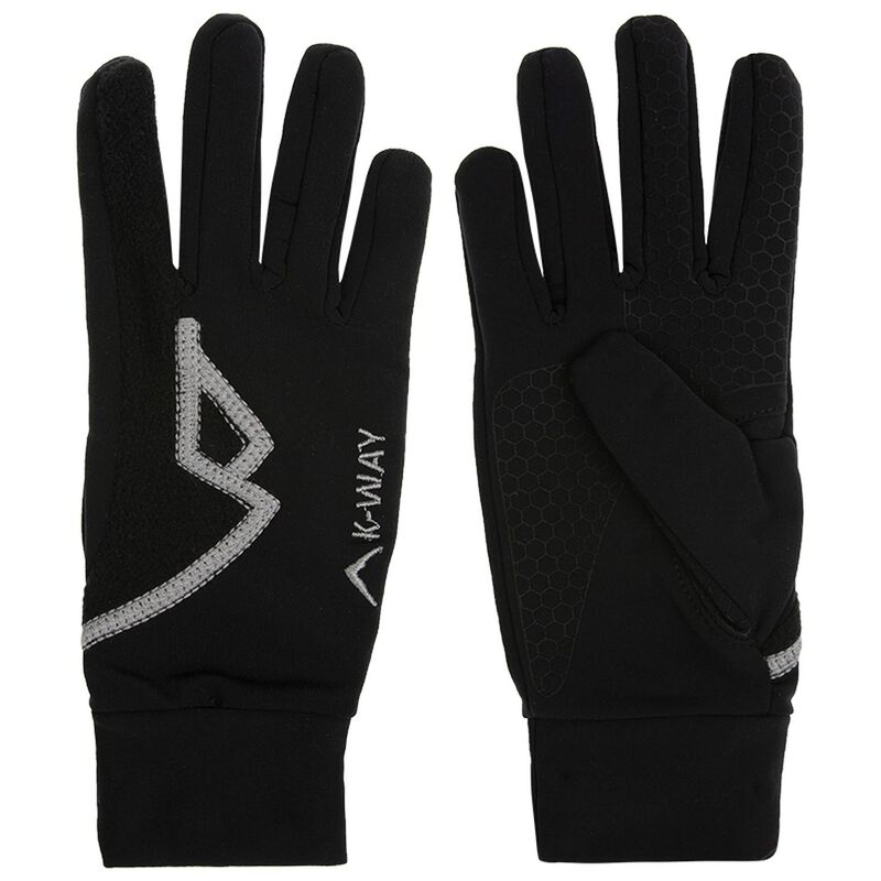 K-Way Touch Vesper Glove -  black-silver