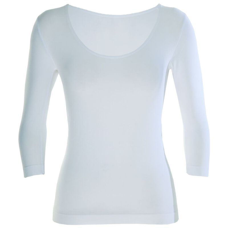 Boody Women's 3/4 Sleeve Scoop Top -  white