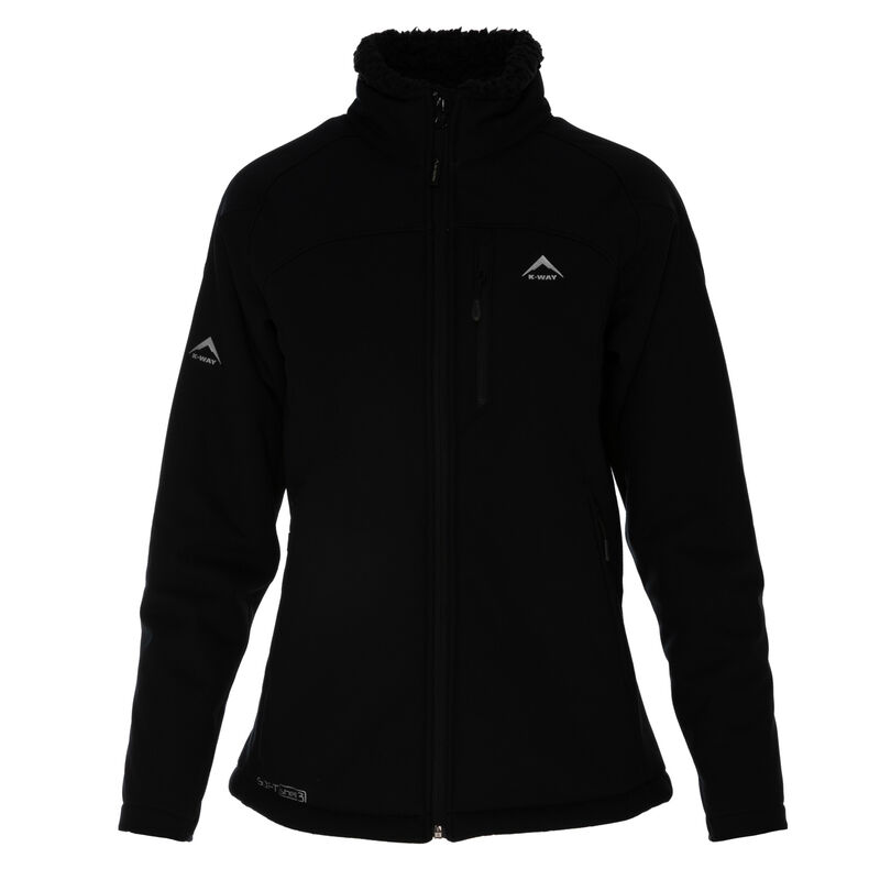 K-Way Women's Tinia '19 Softshell Jacket -  black-black
