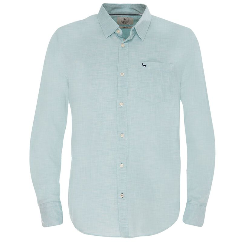 Old Khaki Men's Sammy Regular Fit Shirt  -  turquoise