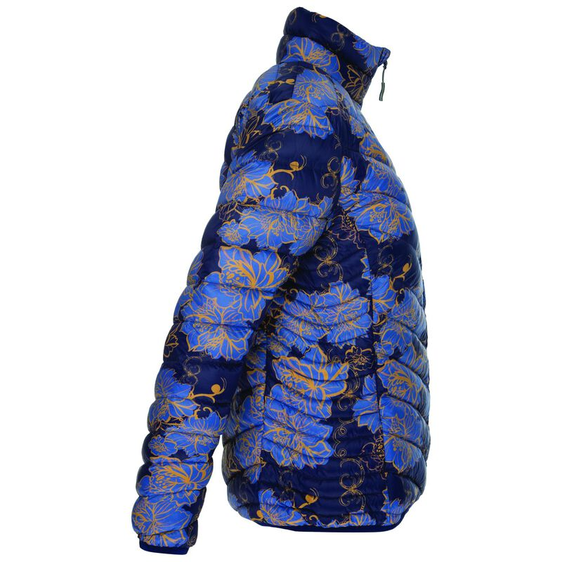 K-Way Women's Printed Tundra Down Jacket -  navy-blue