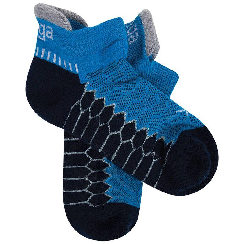 Balega Silver No Show Sock -  turquoise-cobalt