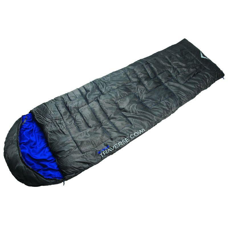 K-Way Traverse 2 Cowl Sleeping Bag -  charcoal-royal