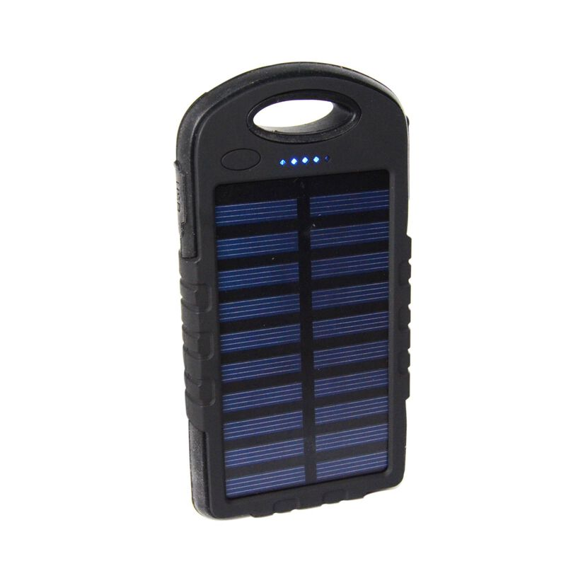 Red-E RS80 II Solar LED 8 000 mAh Power Bank -  black