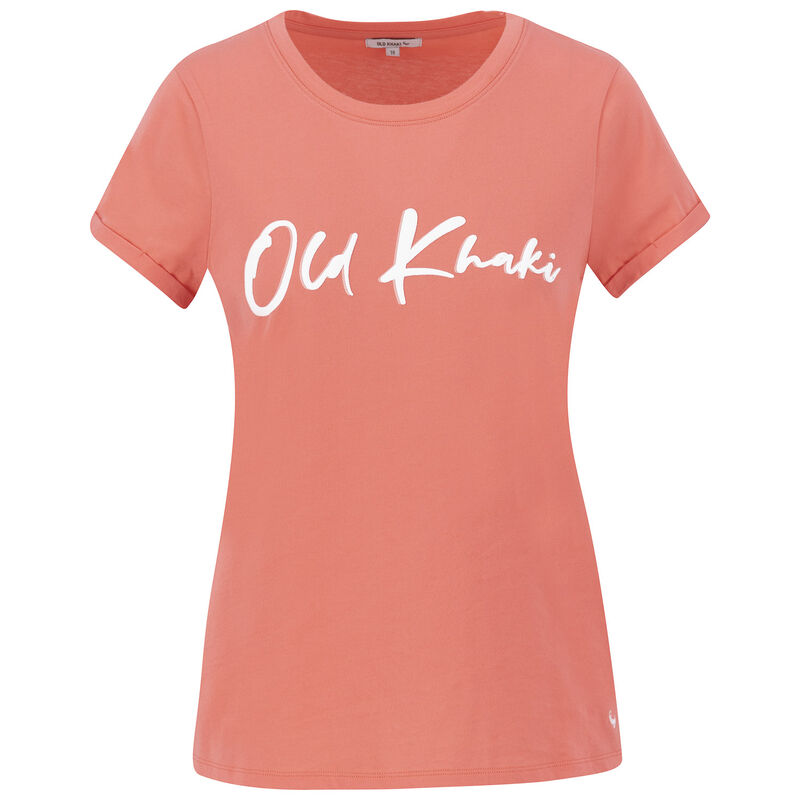 Old Khaki Women's Lebo Call-Out Tee -  coral