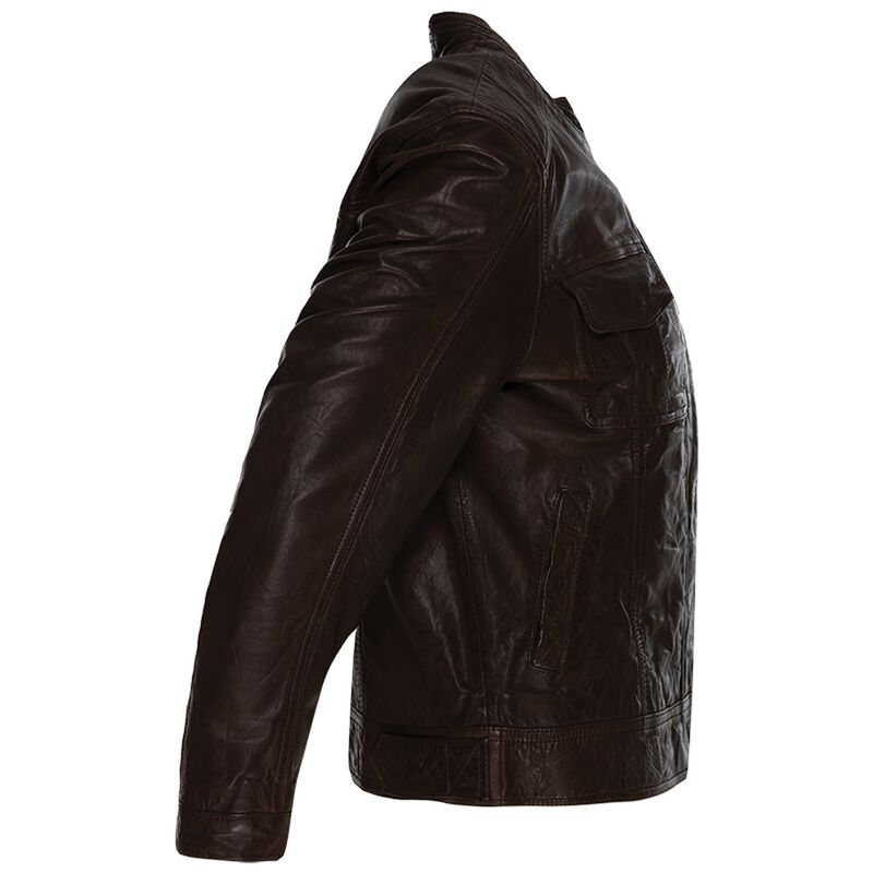 Old Khaki Women's Greer Leather Jacket -  chocolate