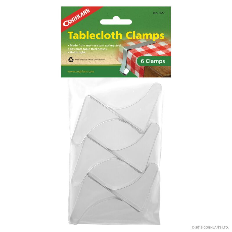 Coghlan's Tablecloth Clamps -  silver