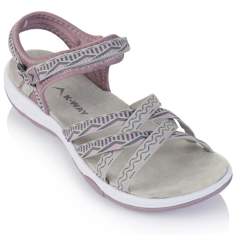K-Way Women's Exhale Sandal -  mauve-white