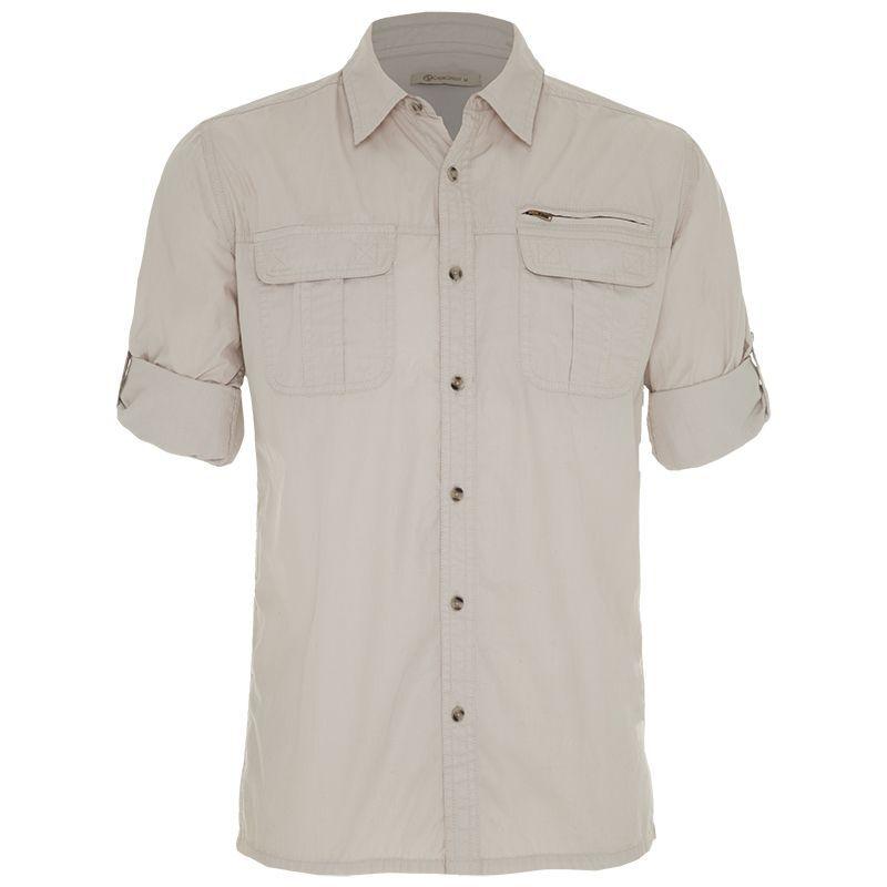 CU & Co Men's Lloyd Shirt -  brown-stone
