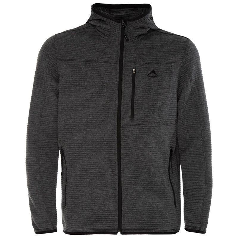 K-Way Men's Waldo Hooded Fleece -  graphite-black