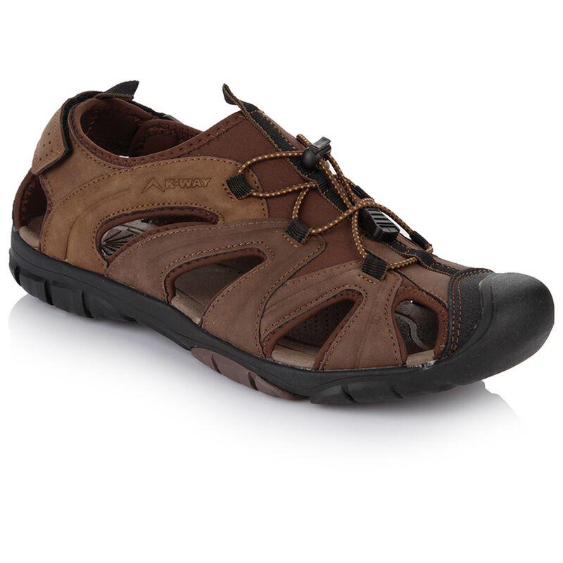 K-Way Men's Fiji Sandal -  brown-black