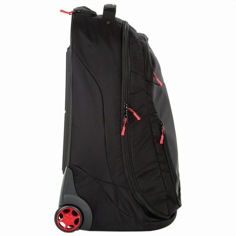 K-Way Stowaway 40L Roller Luggage Bag -  black-red