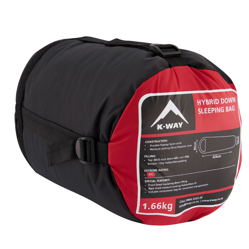 K-Way Hybrid 2 Sleeping Bag -  red-black