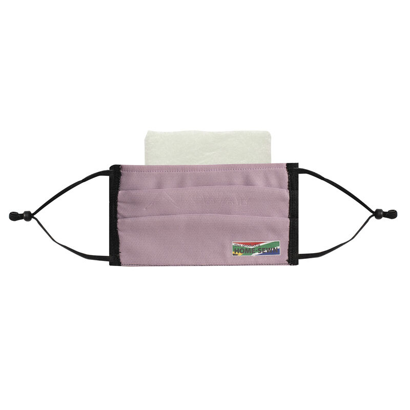 K-Way MB1 Fabric Face Mask 3-Pack with Filter -  black-dustypink