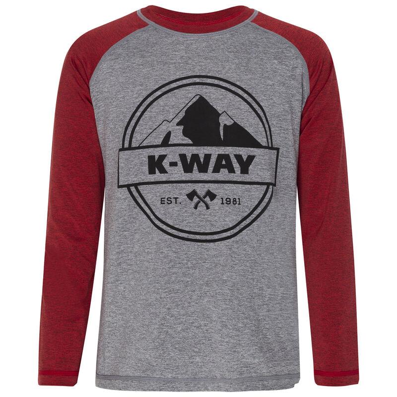 K-Way Youth Mckinley Light Weight Fleece -  grey-oxblood