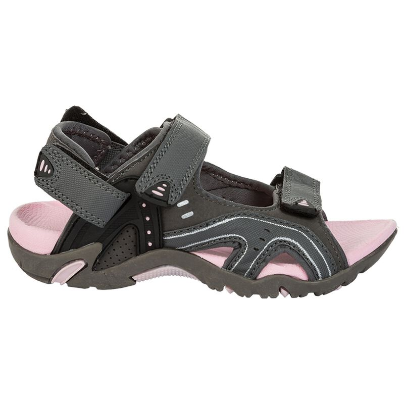 K-Way Youth Stepper Sandals -  charcoal-pink