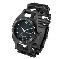 Leatherman Black Tread Plus Watch and Leatherman Rev  -  silver