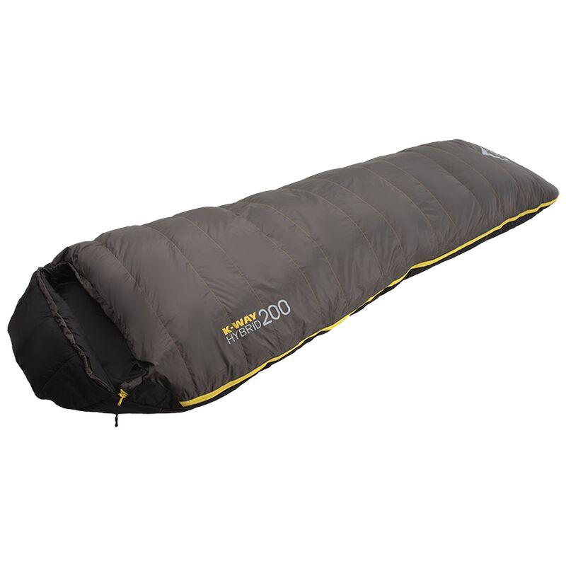 K-Way Hybrid 2 Sleeping Bag -  charcoal-yellow