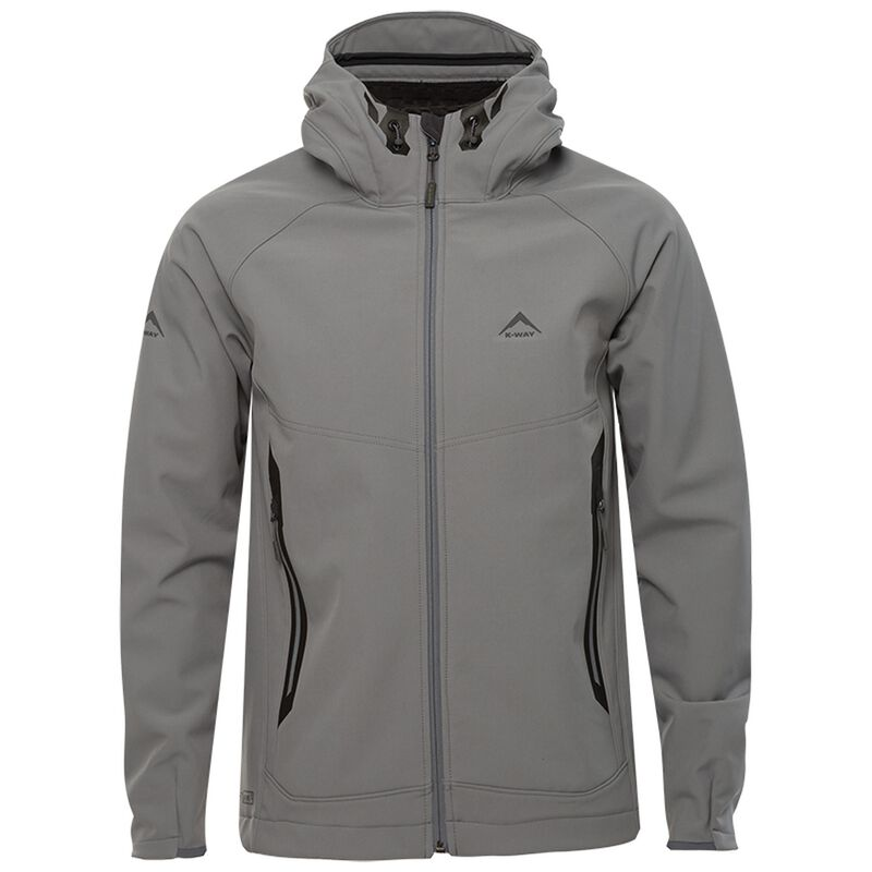 K-Way Men's Staden '19 Softshell 3 Hoody -  silver-grey