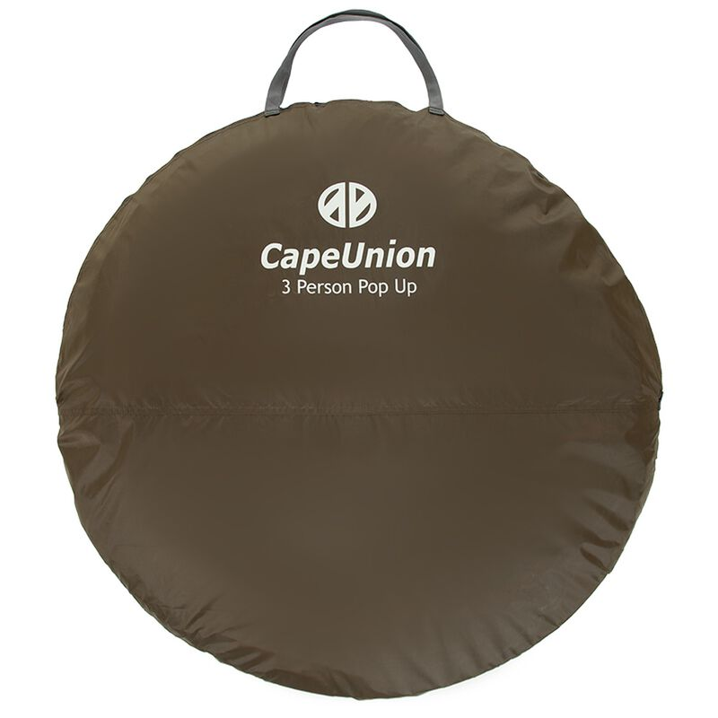 Cape Union Pop Up Three Person Tent -  brown