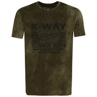 K-Way Men's Experience S19.3 T-Shirt -  olive