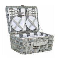 Cape Union Picnic Basket -  grey-white