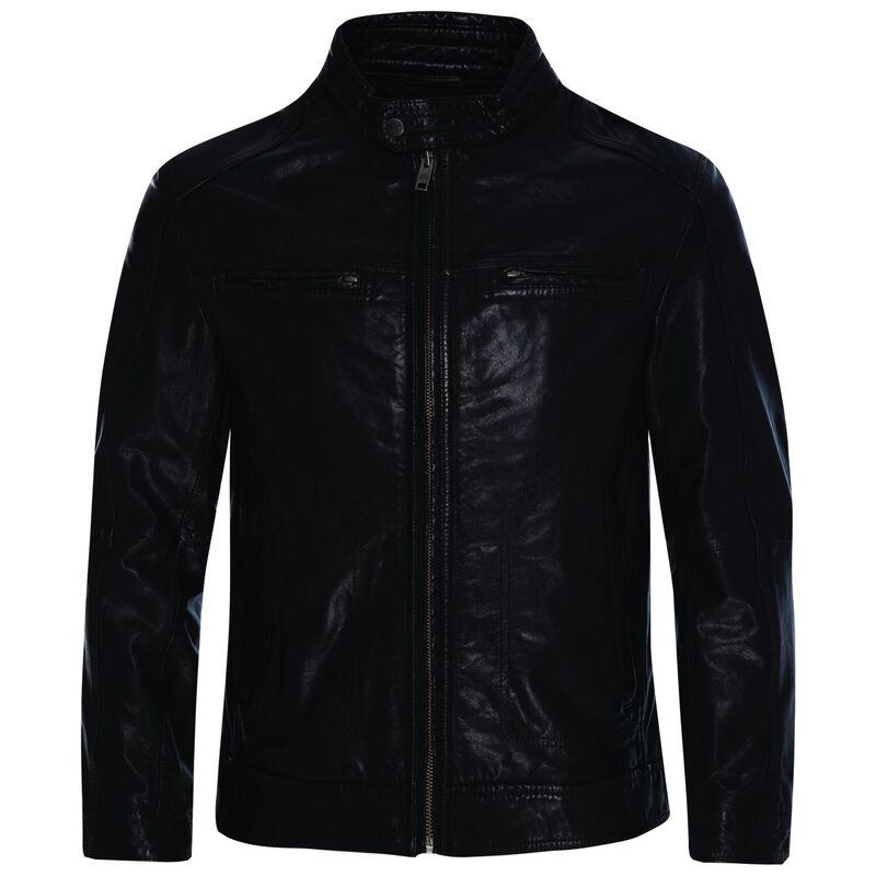 Old Khaki Men's Theo Leather Jacket -  chocolate