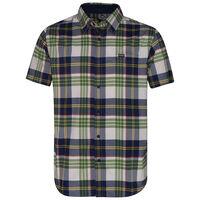 K-Way Men's Explorer Vaillant Short Sleeve Check Shirt  -  green-navy