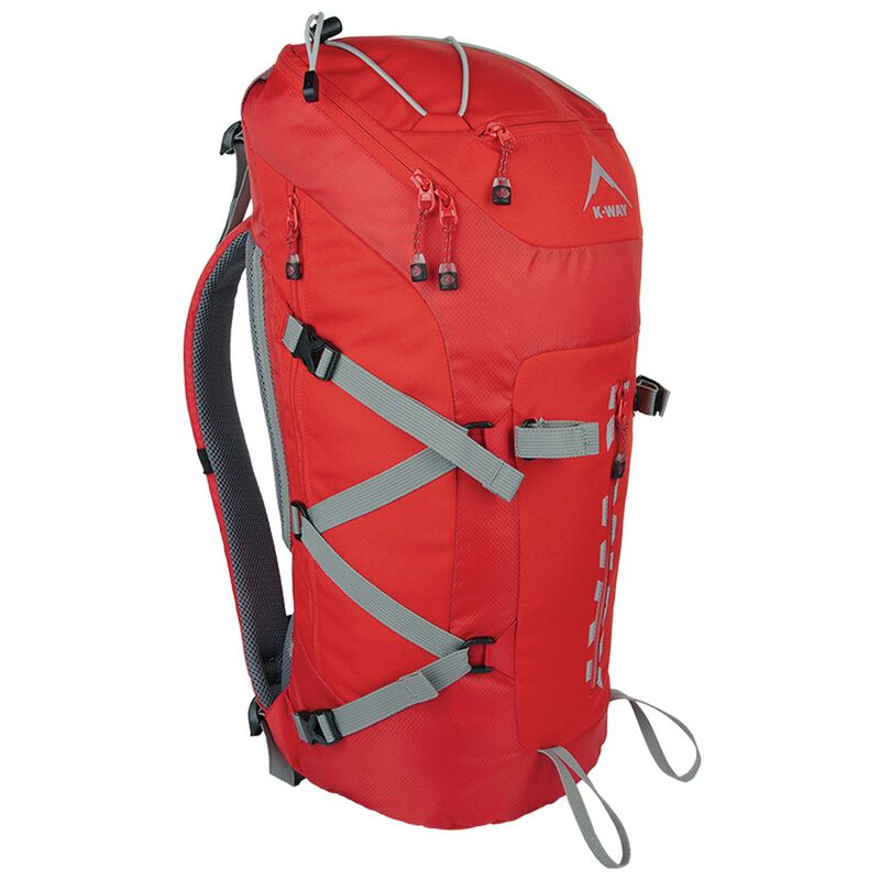 K-Way Lite 40 Hiking Pack -  red-charcoal