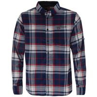 K-Way Men's Explorer Beaufort Long Sleeve Check Shirt -  navy-red