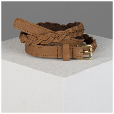 Old Khaki Ashlyn Skinny Plaited Belt