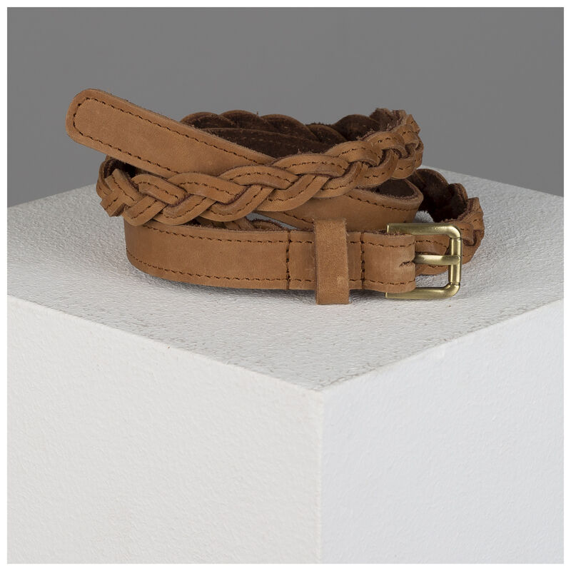 Old Khaki Ashlyn Skinny Plaited Belt -  tan