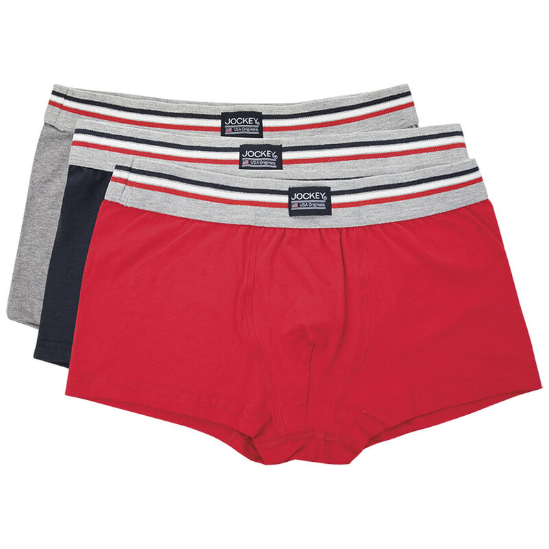 Jockey Men's Three-Pack Short Trunks -  assorted