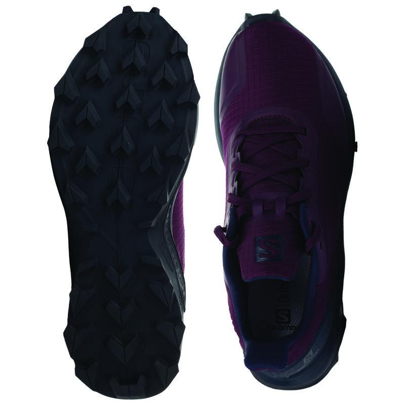 Salomon Women's Alphacross Shoe -  purple-navy