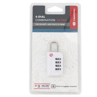 Cape Union 4-Dial TSA Combination Lock -  white