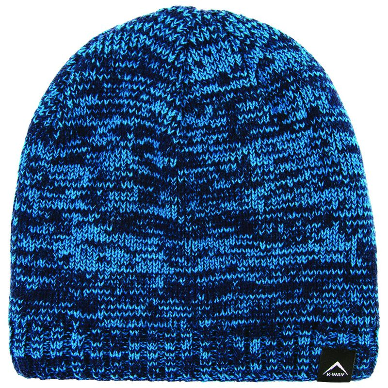 K-Way Unisex Triad Marl Beanie -  blue-navy